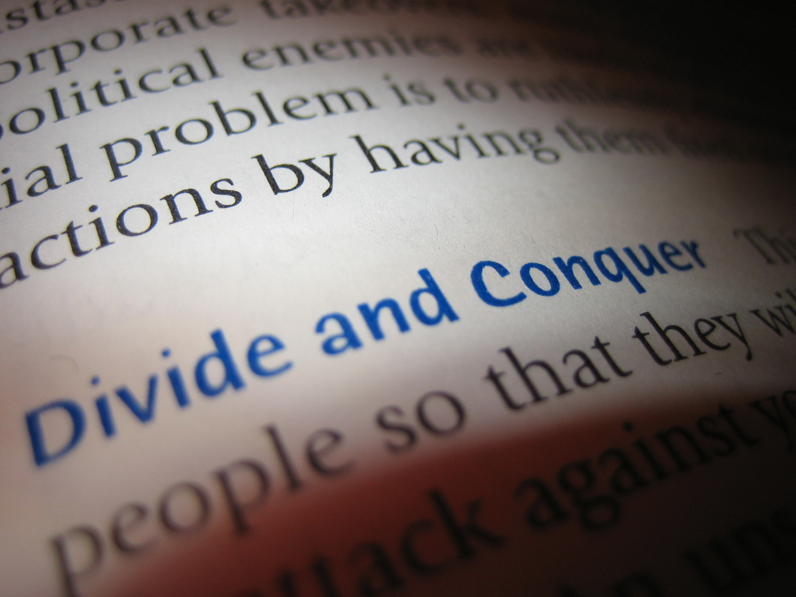 CRM divide and conquer strategy