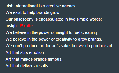 About Irish International BBDO